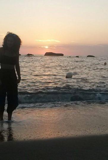Clara Caniglia a Ischia